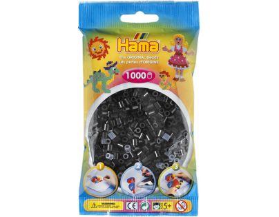Hama H207-18 Zažehlovací korálky Midi černé 1000 ks