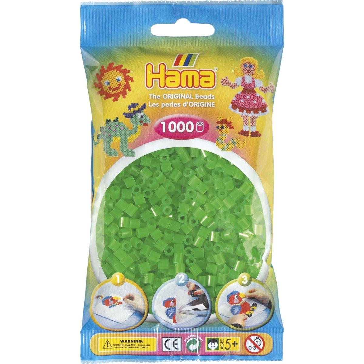 Hama H207-37 Midi Neonové zelené korálky HAMA