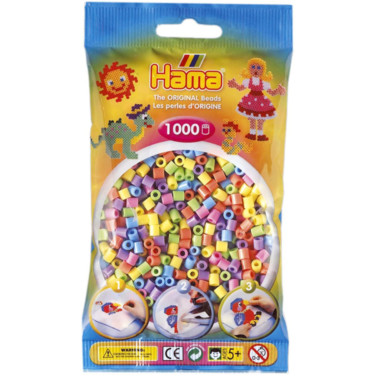 Hama H207-50 Zažehlovací korálky Midi mix 1000 ks HAMA