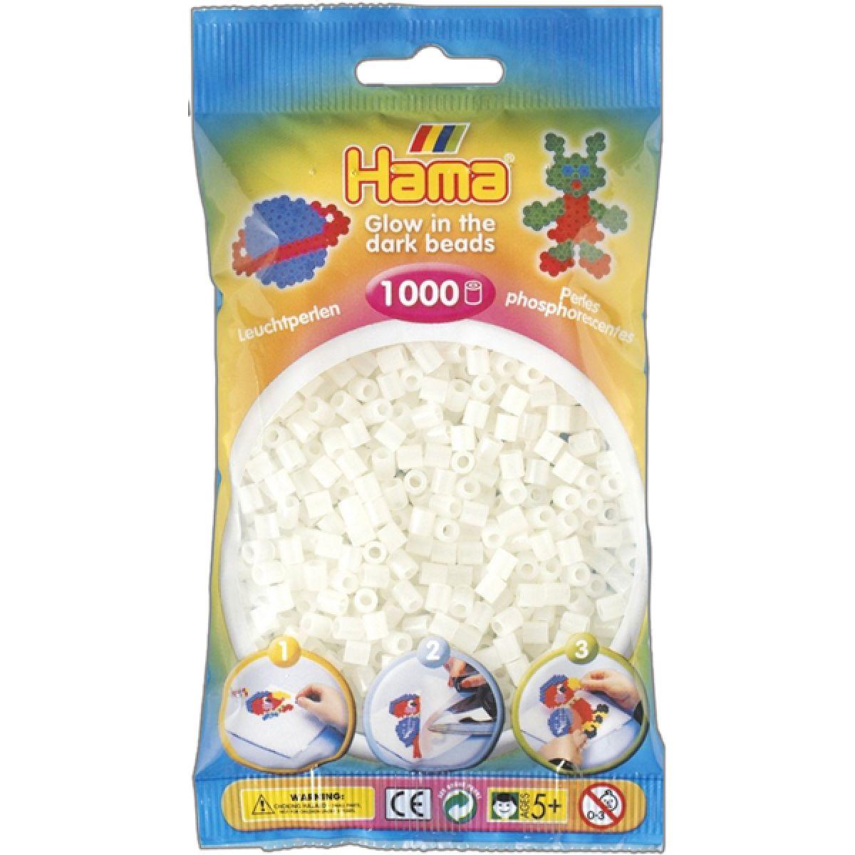 Hama H207-55 Zažehlovací korálky Midi svítící zelené 1000 ks HAMA