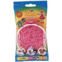 Hama H207-72 Průhledné růžové korálky 1000 ks Midi
