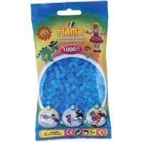 Hama H207-73 Průhledné modré korálky 1000 ks Midi