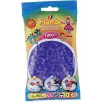 Hama H207-74 Průhledné fialové korálky 1000 ks Midi