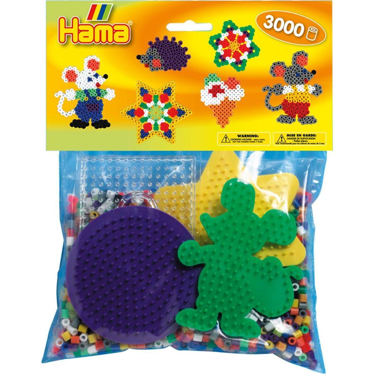 Hama H4411 Mix korálků a podložek Midi