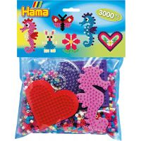Hama H4412 Mix korálků a podložek Midi