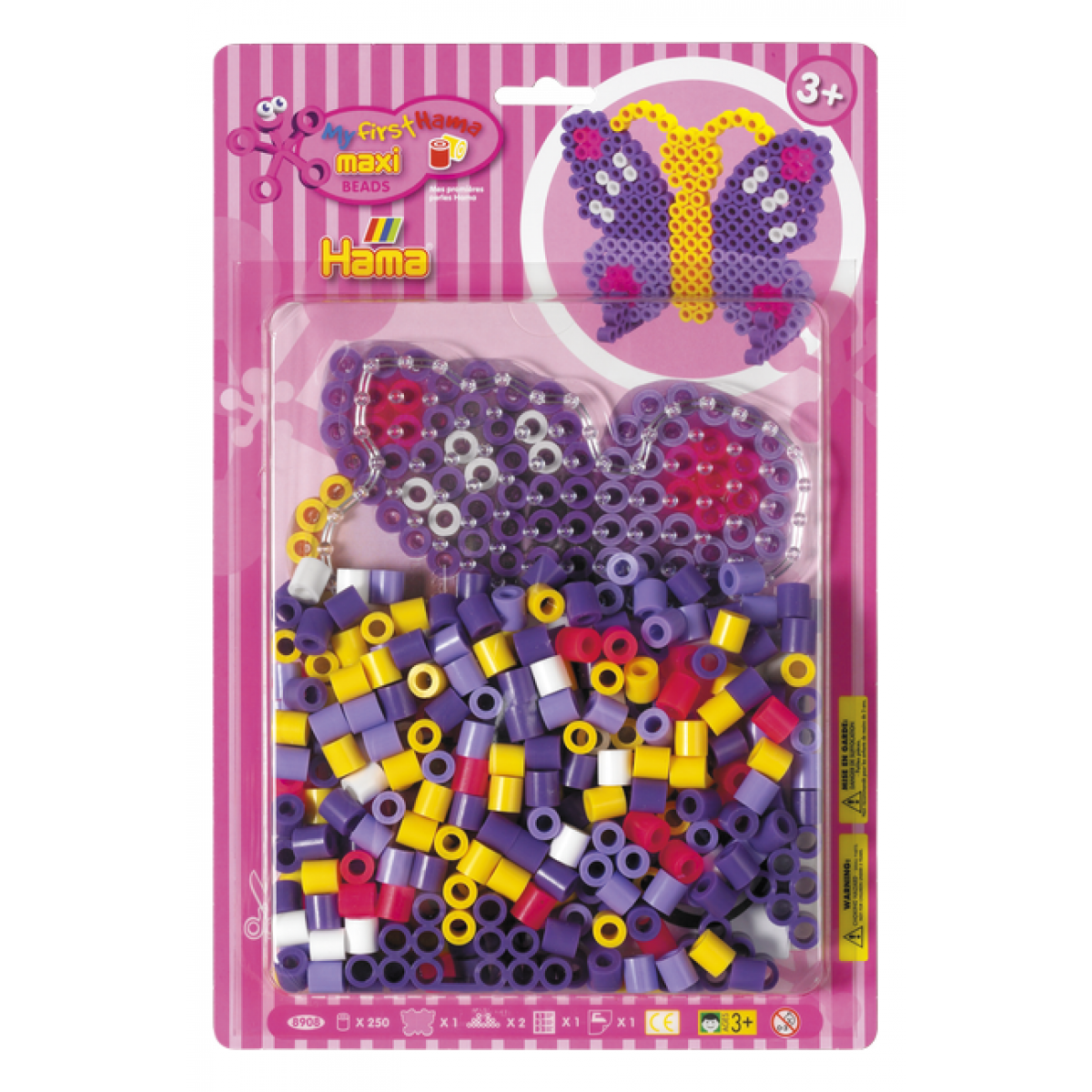 Hama H8908 Maxi korálky set Motýl HAMA