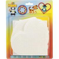 Hama Midi Podložky kruh, srdce, napojovací čtverec, šestiúhelník