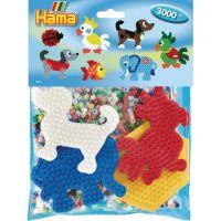 Hama Midi Mix korálok a podložiek Zvieratká