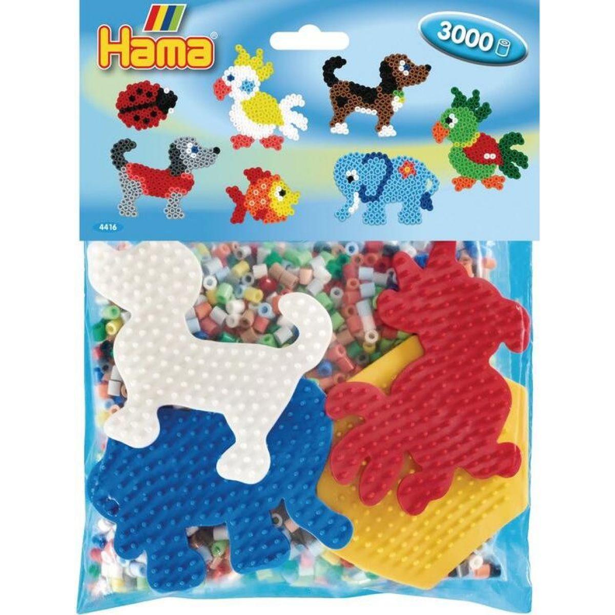 Hama Midi Mix korálků a podložek Zvířátka