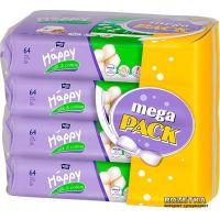 Happy vlhčené ubrousky Hedvábí & Bavlna á 64 x 4 Mega Pack