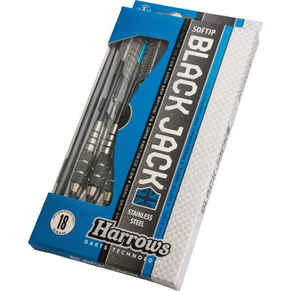Harrows Šipky Soft Black Jack 20g