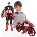 Hasbro Avengers Akční figurka s novým vozem 30cm - Captain America 2