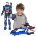 Hasbro Avengers Akční figurka s novým vozem 30cm - Iron Patriot 2
