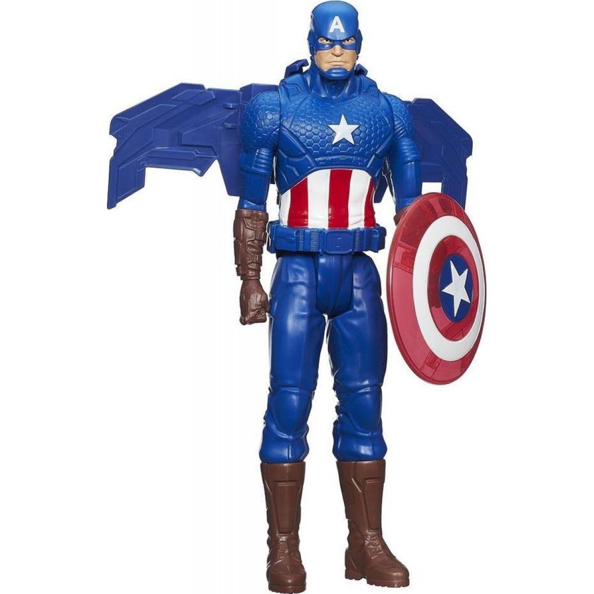 Hasbro Avengers Akční figurka se svítícími doplňky - Kapitán Amerika