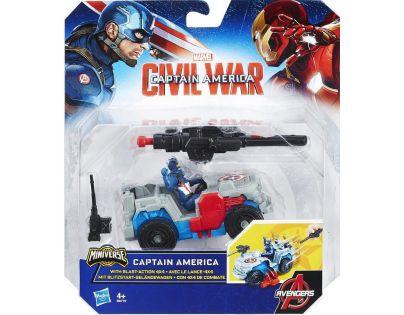 Hasbro Avengers Figurka s vozidlem - Captain America