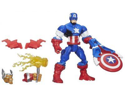 Hasbro Avengers Super Hero Mashers Figurka s příslušenstvím - Captain America