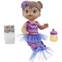 Hasbro Baby Alive tmavovlasá mořská panna fialovomodrá