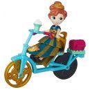 Hasbro Disney Frozen Little Kingdom Mini panenka s doplňky - Anna & Bicycle 2