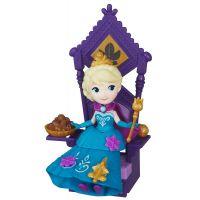 Hasbro Disney Frozen Little Kingdom Mini panenka s doplňky - Elsa & Throne 2