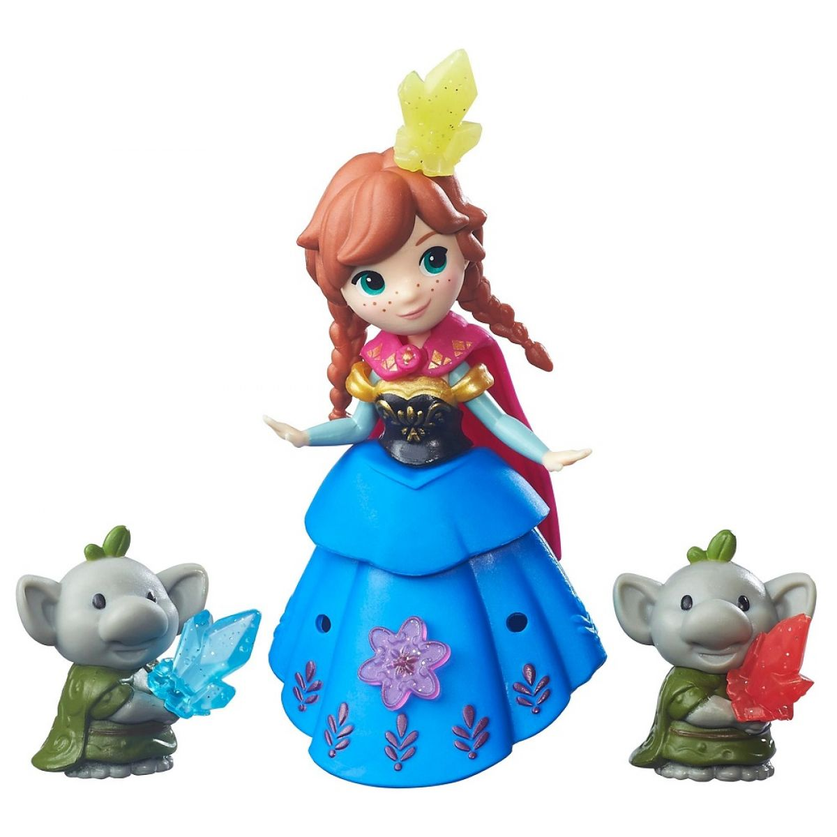 Hasbro Disney Frozen Little Kingdom Mini panenka s kamarádem Anna & Rock Trolls