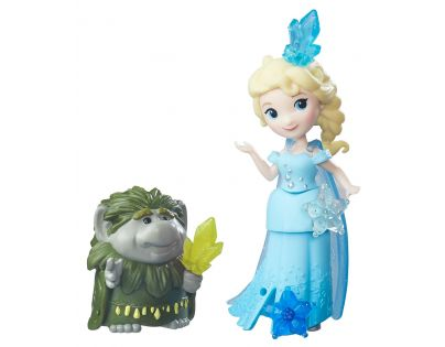 Hasbro Disney Frozen Little Kingdom Mini panenka s kamarádem - Elsa & Grand Pabbie