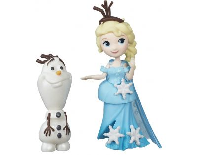 Hasbro Disney Frozen Little Kingdom Mini panenka s kamarádem - Elsa & Olaf