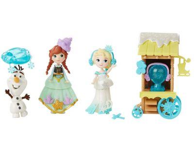 Hasbro Disney Frozen Little Kingdom Set malé panenky s příslušenstvím - Ice Skating Scene