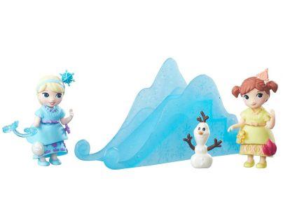 Hasbro Disney Frozen Little Kingdom Set malé panenky s příslušenstvím - Snow Sisters Set