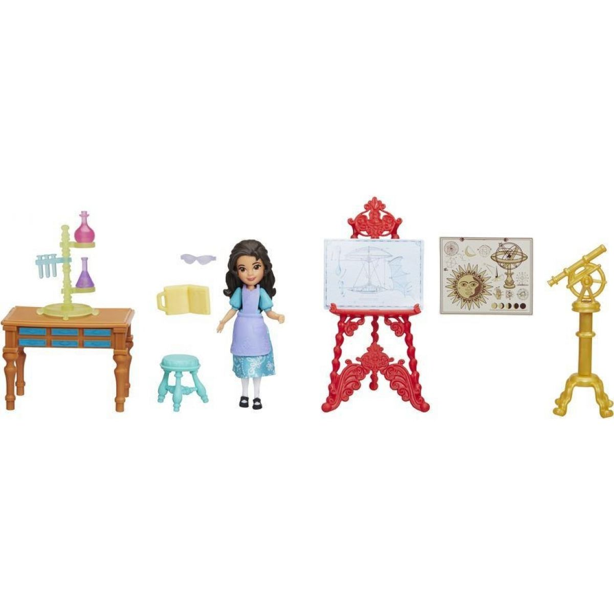 Hasbro Disney Princess Mini panenka Elena z Avaloru set Laboratoř