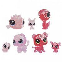 Hasbro Littlest Pet Shop Květinová zvířátka 7ks růžová růže