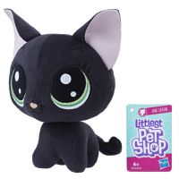 Hasbro Littlest Pet Shop Plyšák s pohyblivou hlavou Jade Catkin