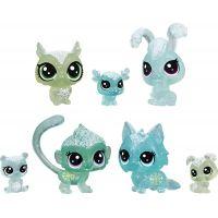 Hasbro Littlest Pet Shop Zvířátka z ledového království 7 ks zelená