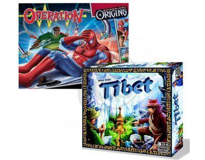 Hasbro MB Operace Spiderman + Hra Tibet