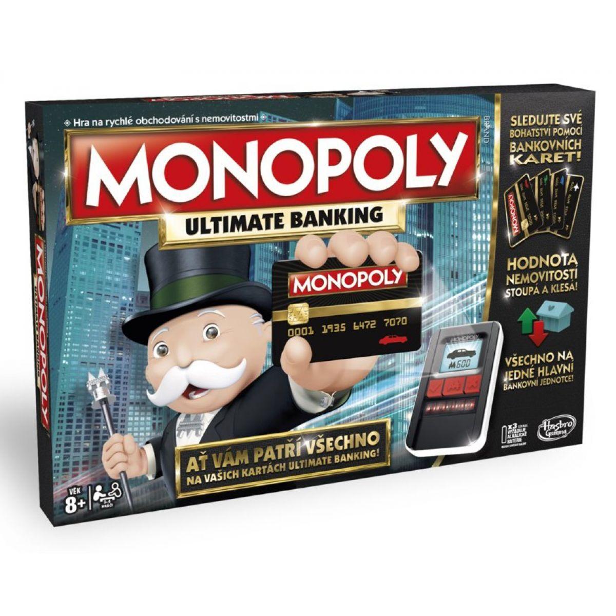 Hasbro Monopoly Ultimate Banking CZ - Poškozený obal