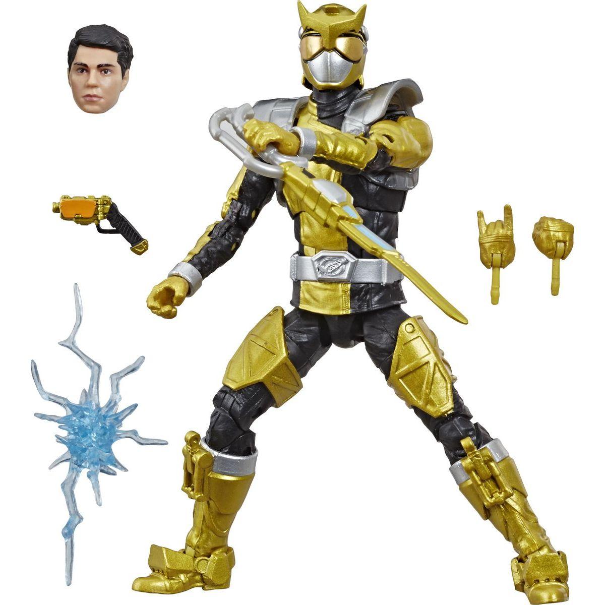 Hasbro Power Rangers 15 cm figurka s výměnnou hlavou Beast Morphers Gold Ranger