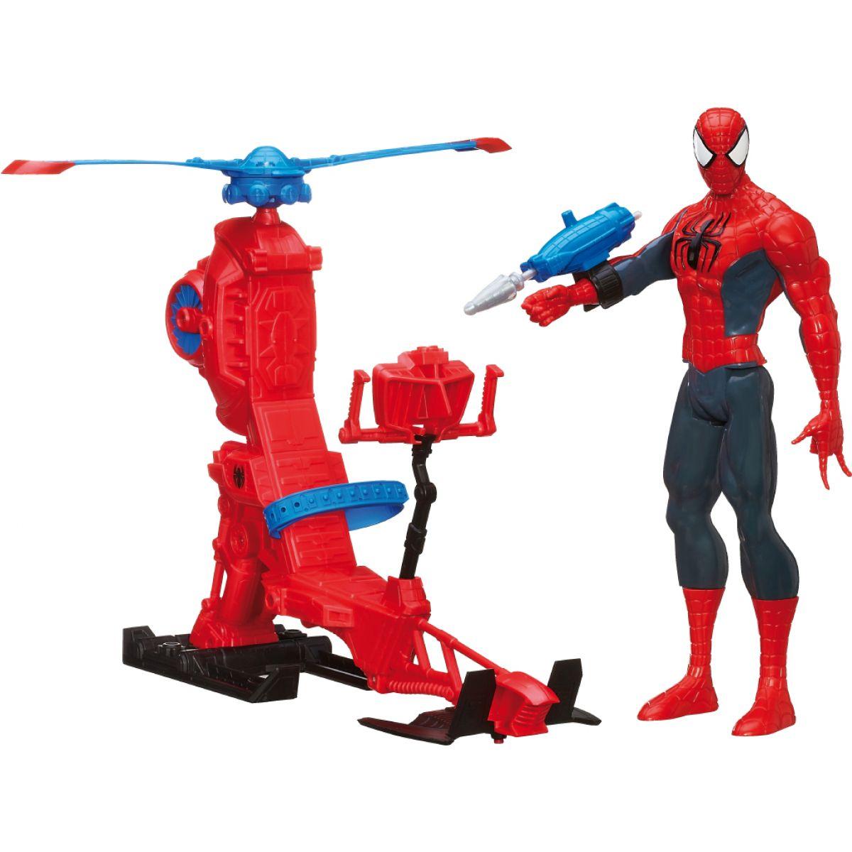 Hasbro Spiderman figurka s vrtulníkem