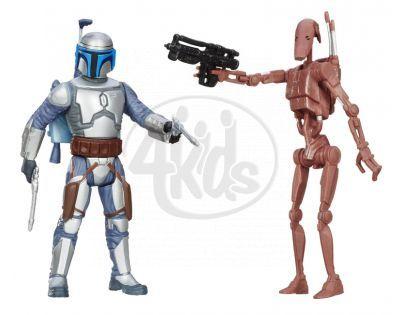 Hasbro Star Wars akční figurky 2ks - Battle Droid a Jango Fett