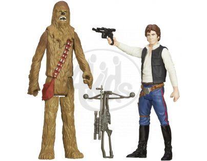 Hasbro Star Wars akční figurky 2ks - Han Sola a Chewbacca