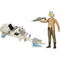 Hasbro Star Wars Epizoda 7 Figurka a vozidlo - Speeder Bike a Poe Dameron