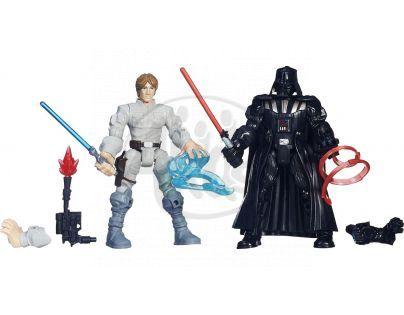 Hasbro Star Wars Hero Mashers Akční balíček - Luke Skywalker vs. Darth Vader