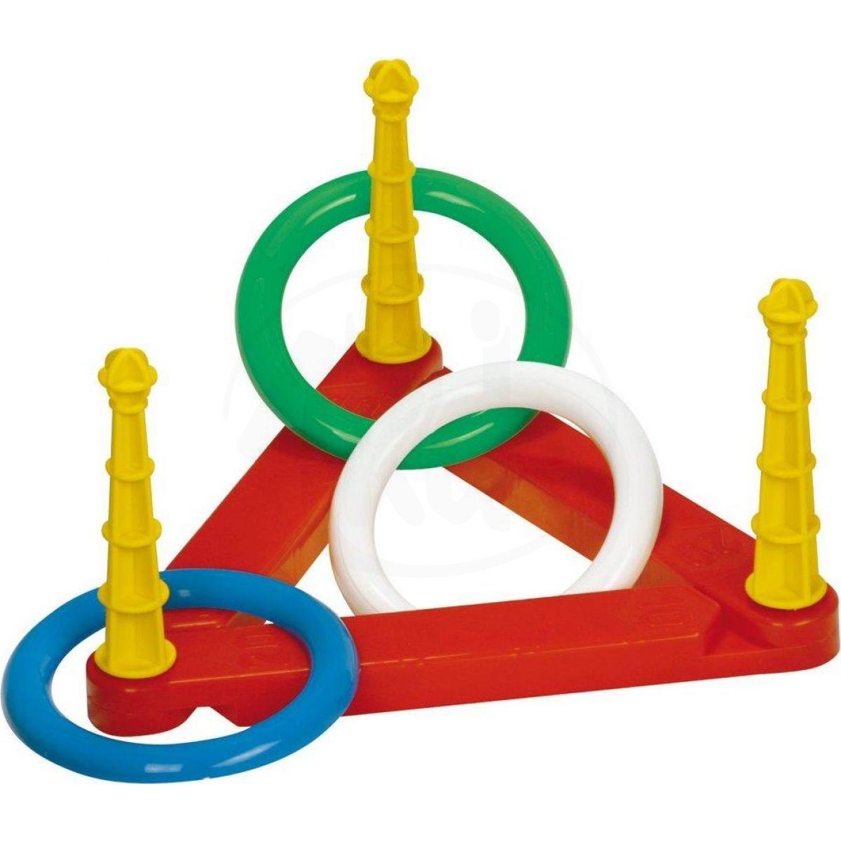 Toy Házecí kroužky plastové - modrý trojúhelník
