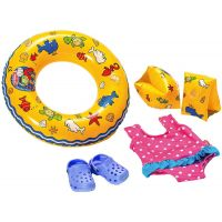 Heless Set na plavání pro panenky - Modré sandálky
