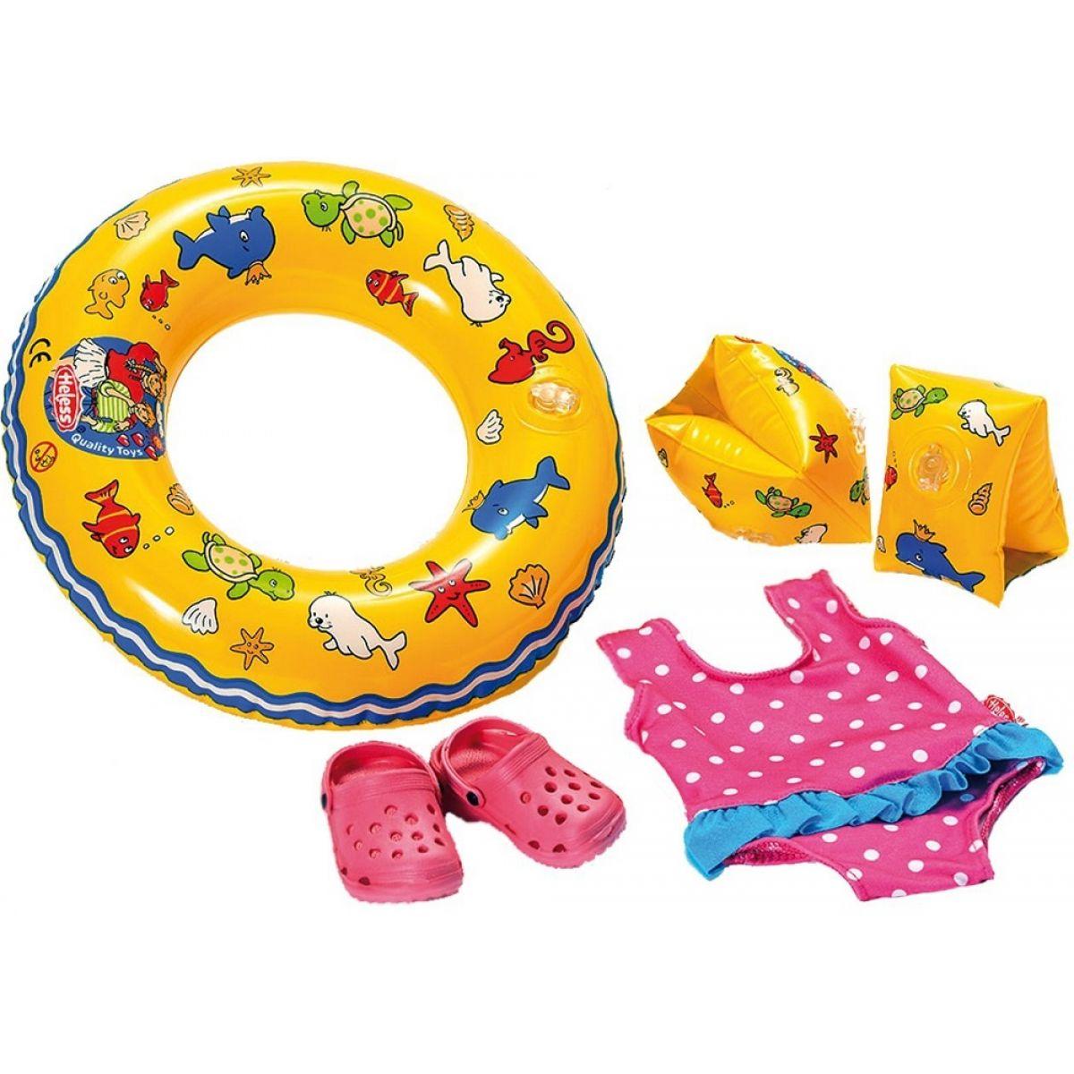 Heless Set na plavání pro panenky Růžové sandálky
