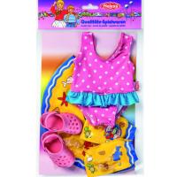 Heless Set na plavání pro panenky Růžové sandálky 2
