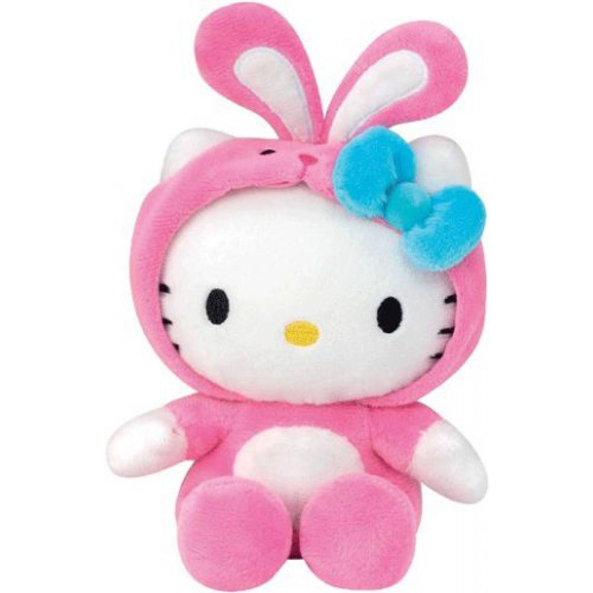 Hello Kitty v oblečku 15 cm Růžový zajíček