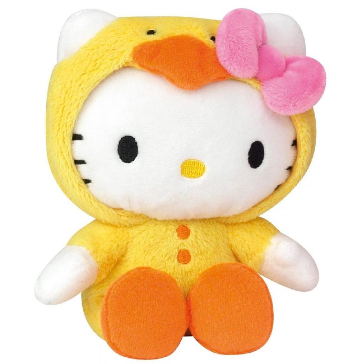 Hello Kitty v oblečku 15 cm Žluté kuřátko