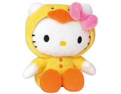Hello Kitty v oblečku 15 cm - Žluté kuřátko