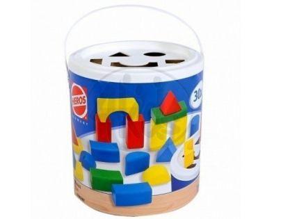 Heros Dřevěné kostky barevné 30ks