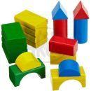 Heros Dřevěné kostky barevné 30ks 2