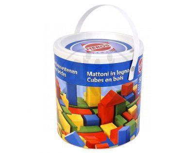 HEROS S 50151 - Dřevěné kostky barevné 50 dílů